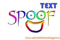 1000 Penjelasan Lengkap Spoof Text Dan Contohnya