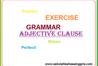 101 Adjective Clause Exercise
