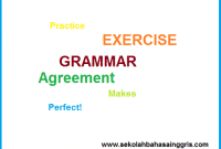 Contoh soal Agreement (Grammar Online learning)