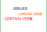 Verb English Lists: Verb Ditransitive And Linking Verb