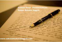 1000 Contoh Surat Pemberitahuan Dalam Bahasa Inggris