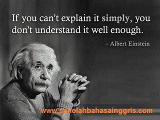 Kata Bijak Mutiara Albert Einstein Bahasa Inggris Dan Artinya