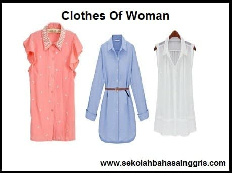 15 Vocabulary Corner: Clothes Of Woman (Pakaian Wanita)