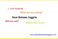 Contoh Soal Bahasa Inggris Grammar