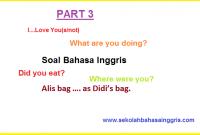Contoh Soal Bahasa Inggris Grammar: Preposition-Tenses