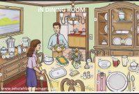 16 Vocabulary Corner:Dining Room (Ruang Makan)