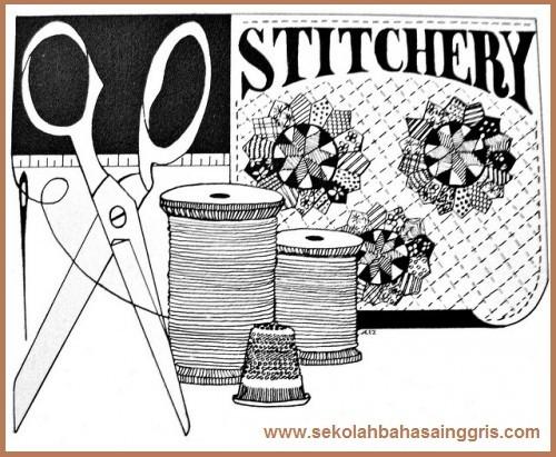 19 Vocabulary Corner:  Dressmaking & Cosmetic (Pembuatan Baju & Kosmetik Wanita)