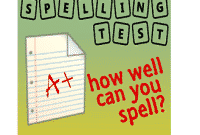 English Learning: Practice Spelling Test Part 1