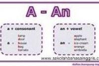 Contoh Kalimat menggunakan A dan AN dan Penjelasannya Lengkap
