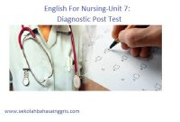 English For Nursing-Unit 7: Diagnostic Post Test