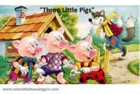 Dongeng Singkat: Tiga Anak Babi (Three Little Pigs) Dalam Bahasa Inggris
