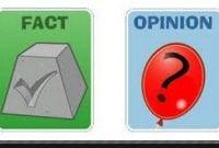 CONTOH KALIMAT FAKTA DAN OPINI DALAM BAHASA INGGRIS ( FACT and OPINION )