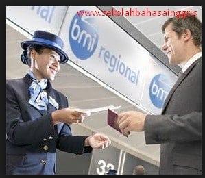 Dialog Percakapan Bahasa Inggris di Airport (Bandara) Dan Artinya