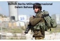 1 Contoh Berita Militer Internasional Dalam Bahasa Inggris