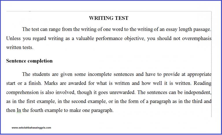 7 Section Kumpulan Soal Writing Bahasa Inggris Lengkap