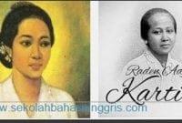 Contoh Recount Text Biografi R.A. Kartini dalam Bahasa Inggris dan Artinya