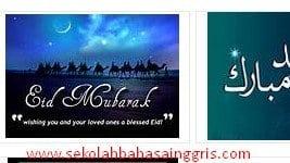 Kumpulan Ucapan Selamat Idul Fitri Lebaran 2015 Dalam Bahasa Inggris + Artinya