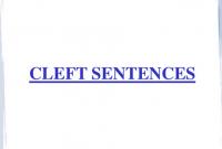 Pengertian, Jenis, Rumus Dan Contoh 'CLEFT SENTENCE' Dalam Kalimat Bahasa Inggris