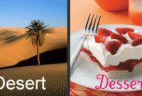 """Perbedaan """"Dessert Vs Desert"""" Dalam Bahasa Inggris Beserta Contoh Dalam Kalimat"""